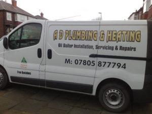 Sign Written Plumbers Van