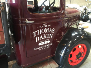 Sign Written Thomas Dakin Truck