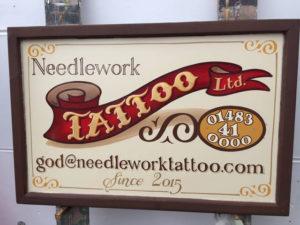 Gold Leaf Tattoo Sign
