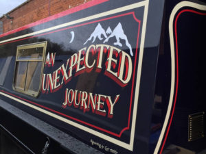 An Unexpected Journey Narrowboat painting