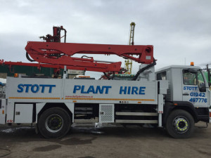 Stott Plant Hire Sign Written Wagon