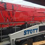 Stott Plant Hire Sign Written Wagon