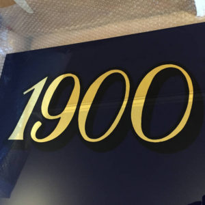 Gilded Glass Jewellers Sign