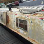 Modern narrowboat painting