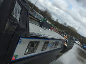 Modern Narrowboat Painting