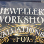 Jewellery workshop hand painted sign
