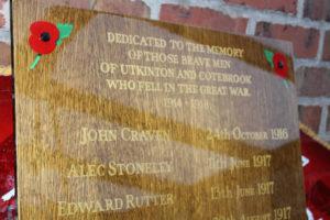 War hero's honours board