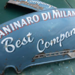 Faux Ghost Sign on distressed lambretta panels