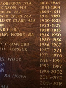 War Heroes Honours Boards