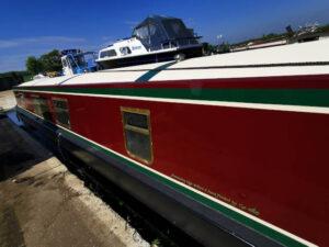 Kajobe Red Narrowboat